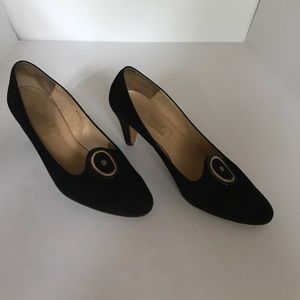 BALLY Black Suede Shoes 9